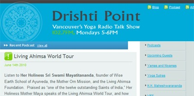 Dhristi Point Audio Interview with Maya Tiwari